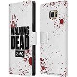 Officiel AMC The Walking Dead Blanc Logo Étui Coque De Livre En Cuir Pour Samsung Galaxy S7 edge