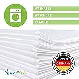 VERONIMEDA Massageliege Bezug (10 Stk) / Waschfaserlaken für Massage 4 JAHRE LEBENSDAUER / Massageliege Auflage (200 x 80cm) / Massagetisch Bezug (50g/m² Vlieslaken) Laken für Behandlungsliege