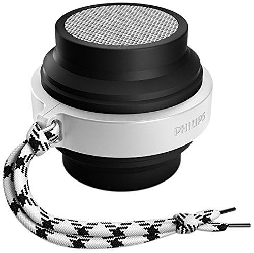 Philips FLEX Bluetooth Wireless Portable Speaker (Black and White, BT2000B/37)