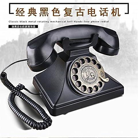 SJMM Téléphone domicile, vintage, cadran rotatif, hotel, accueil, téléphone, fixe