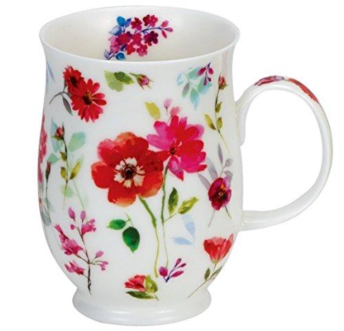 Dunoon Floral Harmony Red Tasse Motif floral