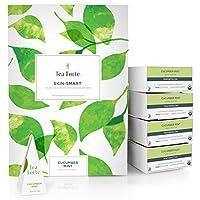 Tea Forté BULK PACK Cucumber Mint Green Tea, 48 Handcrafted Pyramid Tea Infusers