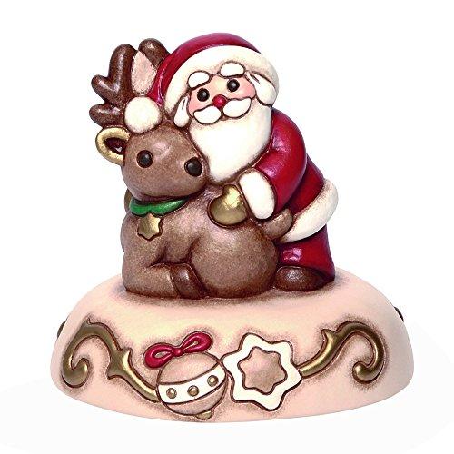Thun Carillon Babbo Natale con Renna Bimbi e Personaggi, Ceramica, Variopinto