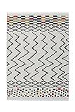 Teppich Wohnzimmer Carpet Orientalisch Modern Design Agadir 410 Rug Zick-Zack Muster Polypropylen 200x290 cm Weiß/Teppiche günstig online kaufen