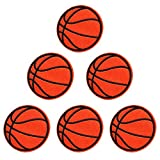 XunHui, toppe termoadesive ricamate a forma di pallacanestro per abbigliamento, applicazione fai-da-te, 5,8 cm, 5 pezzi