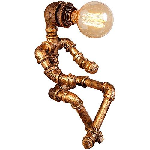 Pumpink Amerikanische Persönlichkeit kreative Eisen Röhre Tischlampe Schreibtisch Licht Industrie Loft Retro Wind Kaffee Schreibtisch Lampe Tischleuchte Bar Wasserrohr Roboter Tischleuchte - Industrie-schreibtisch-lampe