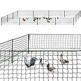 IDMarket - Kit clôture Filet à Poules 50 M avec Porte 15 piquets Double Pointes