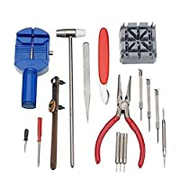 Souarts Professional Case Cover Opener Spring Bar Remover Repair Watch Fixing Tool Set 26x20.3x2.5cm
