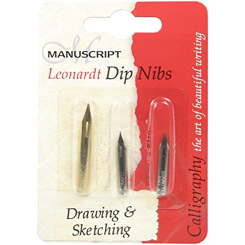 Manuscript Leonardt Dip Pen NIB Set-Drawing & Sketching (Dip-pen-drawing)