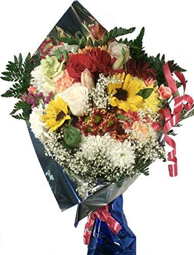 Ramo de flores naturales y frescas a domicilio, con los gastos de envio y la nota dedicatoria incluido en el precio.