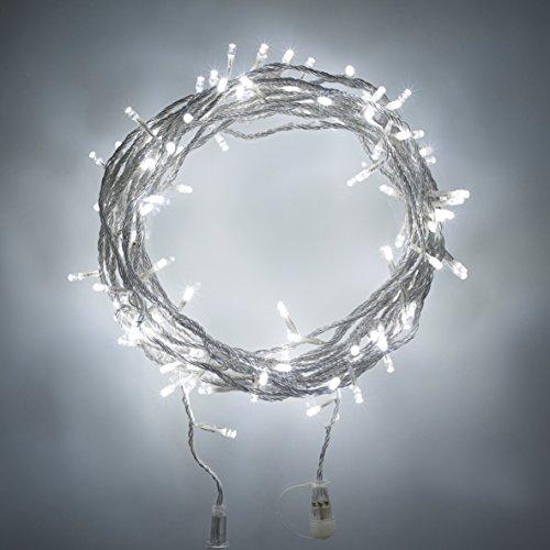 60er LED Lichterkette weiß Batteriebetrieb AA 6m koppelbar Strombetrieb möglich Typ U Lights4fun