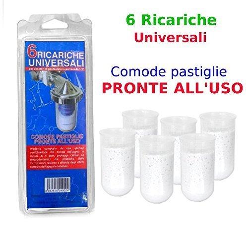 Ricariche polifosfati Universali 6X per dosatori di POLIFOSFATO polvere da 1/2″
