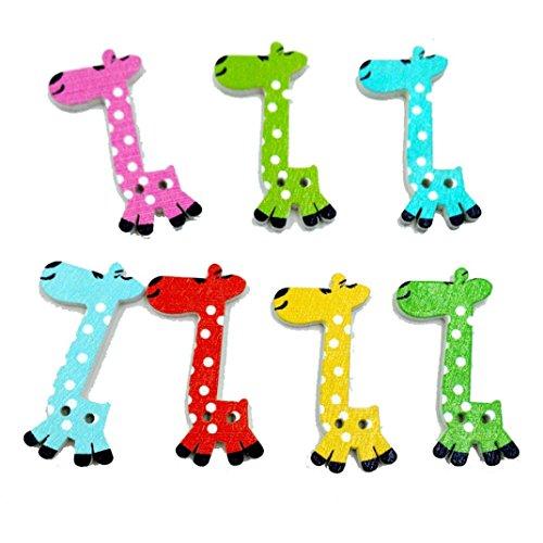 Winkey Giraffe Nähen Craft DIY Amazing Knöpfe aus Holz