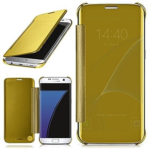 Samsung Galaxy S7 Edge Hülle Transparent TPU [OneFlow Void Cover] Dünne Schutzhülle Gold Handyhülle für Samsung Galaxy S7 Edge Case Ultra-Slim Handy-Tasche mit