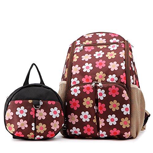 Multifunktionale Rucksack Elternwindel Taschen mit Isolierten Taschen Anti-Wasser Material Tasche - Große Kapazität Für Die Reise Unisex-Windel-Tasche,E
