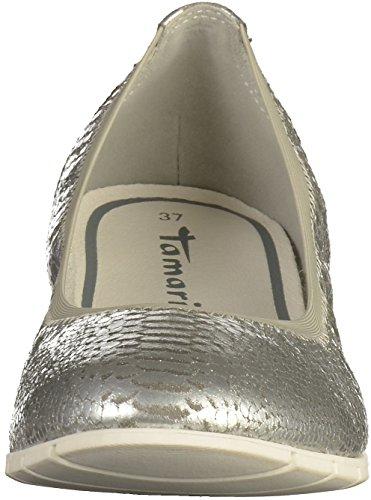 Tamaris Damen 22105 Geschlossene Ballerinas Silber