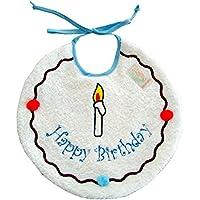 Zigozago - Bavaglino Happy Birthday; Chiusura: Laccetti; Taglia: Unica; Colore: Azzurro