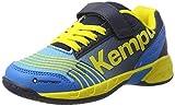 Kempa Attack, Baskets Mixte Enfant, Multicolore (Kempableu/Bl Marine/Jaune), 34 EU