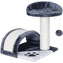 Songmics Rascador para Gatos Árbol para Gatos Gris 42 cm PCT09G