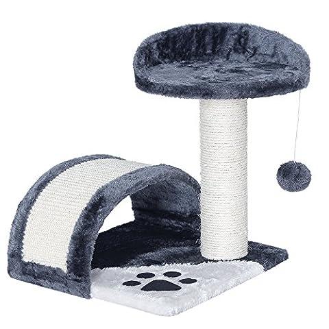 Songmics Cat Tree Cat Scratcher Activity Centres Scratching Post Grey PCT09G