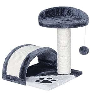 songmics arbre chat griffoir niche en arc pct09 animalerie. Black Bedroom Furniture Sets. Home Design Ideas