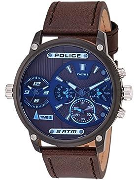 Police Analog Brown Dial Men's Watch-PL14833JSU12J