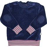 Baby Kinder Nicky Sweatshirt 100% Bio-Baumwolle GOTS Jungen Mädchen Langarmshirt T-Shirt Gr. 62/68 bis 140 (86/92, dunkelblau)