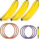 Zonon 3 Pièces Jeu de Lancement d'Anneau de Banane Gonflable pour Bachelorette Party...