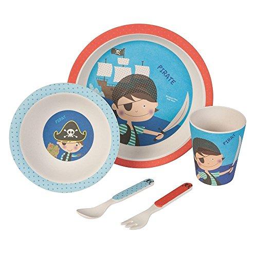 Set–couvert-Pirates-Ustensiles-en-bambou-Ustensiles-pour-enfants-rutilisables-Assiettes-Gobelets-Bol–muesli-cuillre-fourchette-rsistant-au-lave-vaisselle-sans-BPA