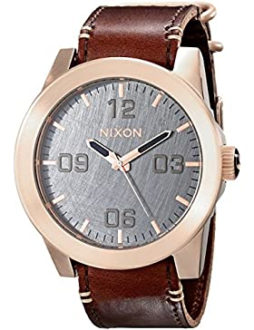 Nixon Damen-Armbanduhr Corporal Analog Quarz Leder A2432001-00