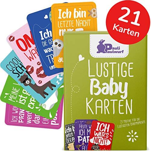 Lustige Baby Meilenstein-Karten für die ersten Lebensjahre - 21 liebevoll gestaltete Karten - Ideal als Geschenk, Geschenk zur Geburt, Taufe, Schwangerschaft, Ostern - Baby Milestone Cards DEUTSCH