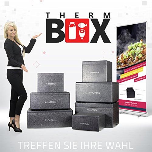 Styroporboxen in verschiedenen größen. 2 bis 88 Liter L-XXL Isolierbox Thermobox Kühlbox Warmhaltebox Weiß und Schwarz in Profiqualität, Art der Box:Pro-XL 37.48L 61.0x38.0x36.5cm d=4.0/5.0cm