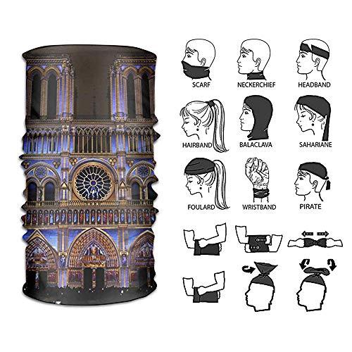 Jolly2T Headband Notre Dame Cathedral Rose Window Outdoor Multifunctional Headwear 16 Ways to Wear Your Magic Headwear Scarf