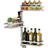 Besteckkasten 304 Edelstahl Küche Regal frei Punch Küche Lagerung Zubehör Lagerung Gewürz hängenden Regal an der Wand montiert