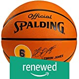 (Renewed) Spalding LeBron James Basketball, Size-7 (Brick)