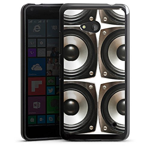 Microsoft Lumia 640 (black version only) Hülle Schutz Hard Case Cover Sound Lautsprecher Boxen (Berufliche Black Box)