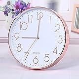 TOOGOO Modern Wall Clock,12 Inch Large Decorative Universal Silent Indoor Quartz Round Wall