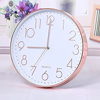 Rose Gold Copper Wall Clock Amazon Co Uk Kitchen Amp Home