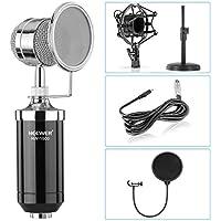 Neewer® Desktop microfono a condensatore: (1) NW 1500microfono a condensatore + (1) NW (b 3) nero Popp Filtro + (1) Ferro da stiro Desktop Mikro treppiede + (1) in metallo Shock Mount + (1) 3,5mm maschio a XLR femmina cavo - Inoltre Pickup