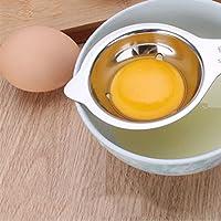 Spécifications:Matériau: acier inoxydable 304Taille: 11.5*7.5cmPoids: 60.5gComment utiliser:1.Contraste oeuf et cuillère.Choisissez la bonne taille.2.casser l'oeuf dans l'oeuf séparateur.3.Pick nous à oeuf, déposez le blanc d'œuf.4.séparation d...