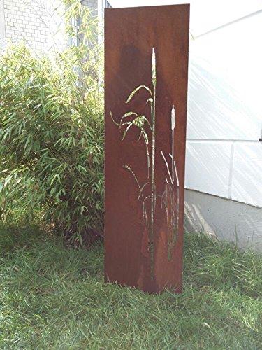 Garten Sichtschutz Wand Edelrost Metall Rost Sichtschutzwand Metall 150*75 cm