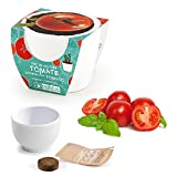 Monsterzeug Kirschtomate im Mini-Keramiktopf, Mini-Tomate Anzuchtset, Cherry Tomato Seeds, Pflanzen selbersäen, frische Cherry-Tomate anbauen, Weiß