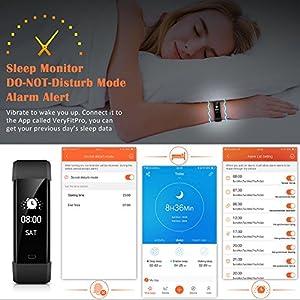 Pulsera Actividad Mpow - Pulsera Inteligente con Monitor de Ritmo Cardíaco Calorías Sueño, Fitness Tracker con GPS Seguimiento de Rutas, Alarmas, Notificación, Control de Cámara