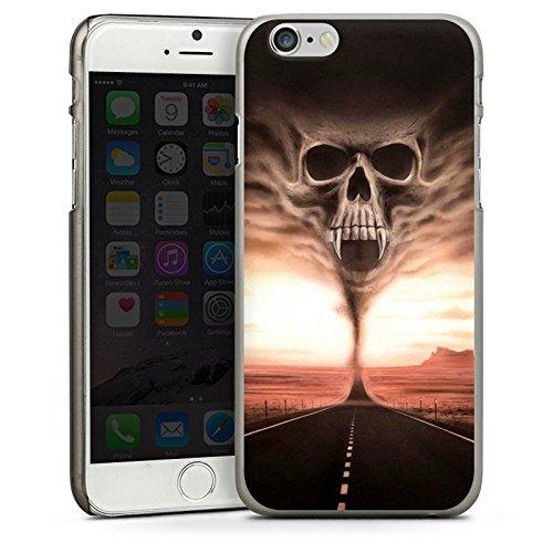 Apple iPhone 5s Housse Étui Protection Coque Crâne Désert Crâne CasDur anthracite clair