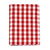Nappe en vichy rouge - Rectangulaire - 100 % coton - Carreaux rouges et blancs , 100 % coton, Red, 59 x 59' (150 x 150cm)