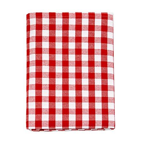 Nappe en vichy rouge - Rectangulaire - 100 % coton - Carreaux rouges et blancs , 100 % coton, Red, 59 x 118\\