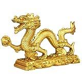 BWinka chinesische gold feng - shui drachen - statue und figuren und skulpturen und sammlerstücke für glück und erfolg