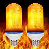 Led Flamme Glühbirne, E27 Base Feuer Lampe Effekt Flackerlicht Birne Zuhause Festival Dekoratives Licht für Haus, Restaurants, Bar Party, Weihnachten und so weiter, 2 Stück