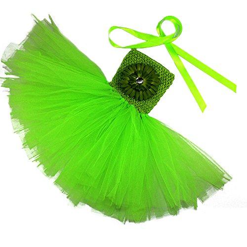 Honeystore Mädchen Spitze Prinzessin Rock Sommer Blumen Kleider für Baby Kleinkinder Kinder 0-2 Jahre alt Small Grün mit (8 Halloween Altes Monat Baby Kostüme Mädchen)