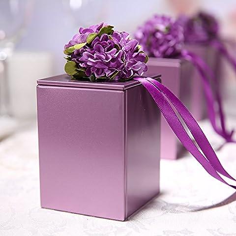 XHDWNBM 20 Pcs Matrimonio originale alimenta la banda stagnata scatola Hee-Sugar continentale creativi personalizzati Nozze (Scatole Candy Personalizzati)